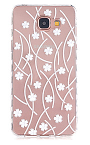 Striped Leaves Pattern Slip TPU Phone Case For Samsung Galaxy A3(2016)/A5(2016)