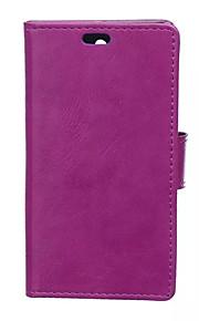 estilo del tirón cubierta de la carpeta con la ranura para tarjeta para el caso del Nokia Lumia 850 caso de la manera textura caballo loco