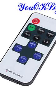 youoklight® mini rf 433.92MHz én farge LED-stripe dimmer controller sett - hvit + rød + svart (DC 12 ~ 24V)
