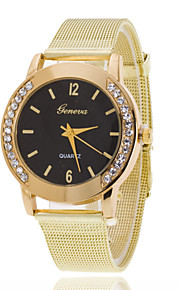 Unisex Wrist watch The New Metal Mesh Belt Diamond Disc Ms. Quartz Watch(Assorted Colors)