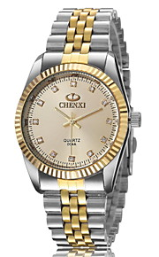amanhecer relógio moda masculina entre relógio de prata de ouro genuíno de moda escala diamante tira de quartzo (cores sortidas)