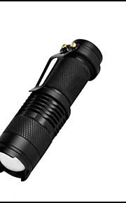Lights LED Flashlights/Torch LED 350 Lumens 3 Mode LED 14500 / AAAAdjustable Focus / Waterproof / Impact Resistant / Clip / Emergency /