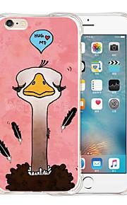 omfavne mig blød gennemsigtig silikone Tilbage Case for iPhone 6 / 6s (assorterede farver)
