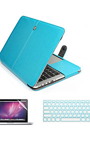 "3 in 1 PU Leather Laptop Case Bag with Screen Protector and Keyboard Cover for Macbook 11""/13""Air"