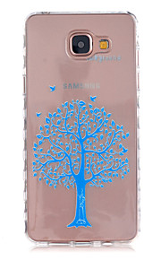 Blue Trees Pattern Slip TPU Phone Case For Samsung Galaxy A3(2016)/A5(2016)