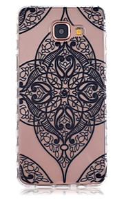 cassa nera angoli di fiori modello slittamento telefono TPU per la galassia a3 (2016) / A5 (2016)