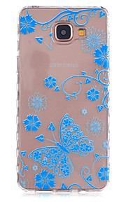 Blue Butterfly Pattern Slip TPU Phone Case For Samsung Galaxy A3(2016)/A5(2016)