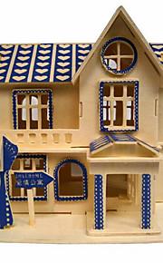 drewniane puzzle 3d miłość mieszkanie diy zabawki