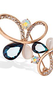 mode 18k farve guld krystal broche
