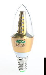 1 stk. Zweihnder E14 7W 25 SMD 2835 600 lm Varm hvit Roterbar Dekorativ LED-lysestakepærer AC 85-265 V