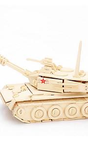 O tanque de madeira principal quebra-cabeças 3D DIY brinquedos