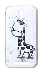 jirafa nueva TPU suave cubierta de la caja para Doogee valencia 2 Y100 bolsas de teléfonos móviles casos