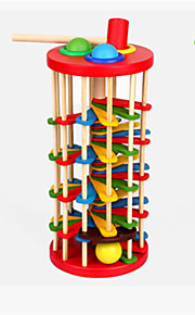 cor de madeira das crianças bater bola escada queda do bebê da cor cognitiva 2-3-5 anos