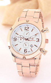 negócio de moda de aço inoxidável relógio de quartzo para homens