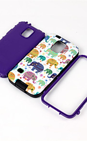 Cartoon Soft TPU Silicone Transparent Phone Case For Samsung Galaxy S5 Elephants Printed Plastic Protective Cover
