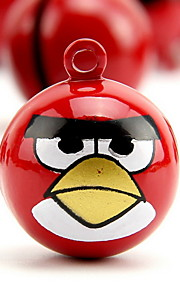 Angry Bird Cartoon Pure Copper Pet Pendant Bell(2 PCS 2cm)