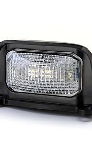 0.5W 4 ledede hvitt lys lampe vanntett bil abs plate