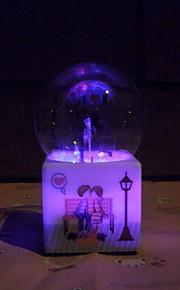 viool patroon lichtgevende kristallen bol muziekdoos creatieve persoonlijkheid waternevel romantische Valentijnsdag verjaardagscadeau