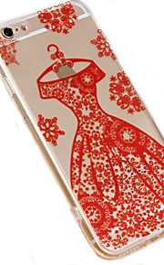 Wedding Dress Pattern of Transparent Acrylic Material Phone Case for iPhone 6/6S (Assorted Colors)