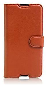 funda protectora de tarjetas estampadas billetera tipo de soporte de Alcatel ídolo 4s teléfono móvil