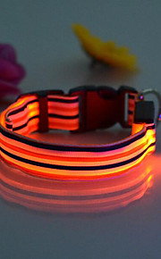 Köpekler Yakalar LED Işıklar Kırmızı / Beyaz / Yeşil / Mavi / Pembe / Sarı / Turuncu Naylon