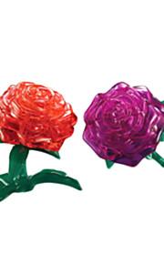 puslespil 3D-puslespil / Krystalpuslespil Byggesten DIY legetøj Rose ABS Sølv Model- og byggelegetøj
