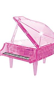 puslespil 3D-puslespil / Krystalpuslespil Byggesten DIY legetøj Piano ABS Orange Model- og byggelegetøj