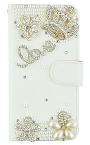iphone6 / 기가 / 6plus / 6splus에 대한 카드 슬롯 및 자기 플립 블링 크리스탈 다이아몬드 PU 가죽 지갑 케이스 커버를 블링