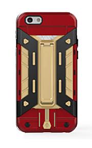 고급 울트라 얇은 철 남자 하이브리드 힘든 갑옷 하드 보호 뒷면 커버 카드 아이폰 기가 케이스 플러스 / 6 플러스 / 6S / 6