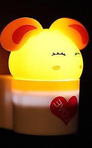 creatieve warm wit konijn lichtsensor met betrekking tot kindje slaap 's nachts licht (assorti kleur)