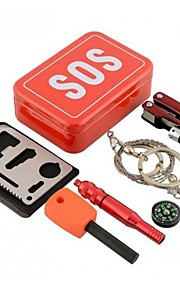 Portabe Outdoor Emergency First Aid Kit Box Survival Tool Set