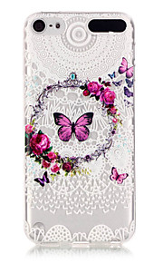 Butterfly Pattern TPU Relief Back Cover Case for iPod Touch 5/Touch 6