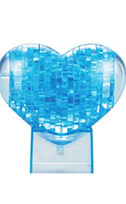 puslespil 3D-puslespil / Krystalpuslespil Byggesten DIY legetøj Hjerte formet ABS Brun Model- og byggelegetøj