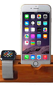 Apple  Watch Wooden Charging Bracket / Watch Mobile Phone In Bamboo Scaffold Display