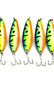 Factory Spoon Fishing Lures 73mm 16.6g Metal Spoon Spinner Baits Random Colors