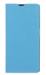 caja del grano de la madera original de alta clase de la PU de cuero de lujo para el lumia 650 casos (colores surtidos)