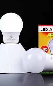 1 stk. ACEM E26/E27 3W 6 SMD 2835 250 lm Naturlig hvit A50 Dekorativ LED-globepærer AC 100-240 V