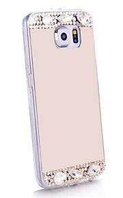 cassa dello specchio diamante di lusso per il cristallo strass g9200 mano Samsung Galaxy S6 copertura del telaio TPU S3 / S4 / S5 / S6 /