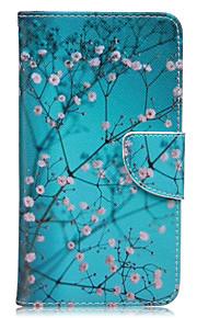 blomme løv mønster kort telefon hylster til Huawei ære 5x / bestige P9 / bestige P9 lite