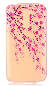 сливы цветок шаблон тиснением чехол для LG K7 / K10