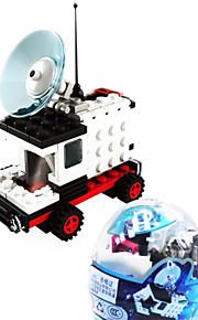 dr espaço do carro 6702, le blocos de construção de marcas espaciais montagem lego torcido brinquedos ovo de crianças