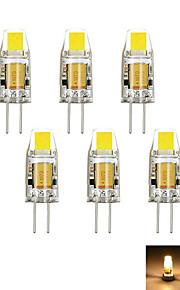 2W G4 LED-lamper med G-sokkel MR11 1 COB 160 lm Varm hvit / Kjølig hvit Dekorativ DC 12 / AC 12 V 6 stk.