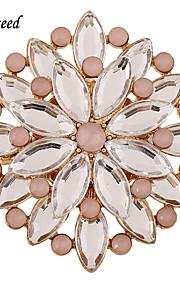 d overstige pink runde legering forsølvede brocher pins akryl perler indlagt smykker tilbehør brocher pins
