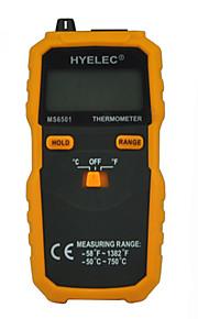 hyelec ms6501 stor LCD-display digital termometer k typ termoelement termometro med data håller / loggning