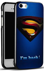 pregede superman beskyttende bakdekselet myk iphone case for iphone se / iphone 5s / 5