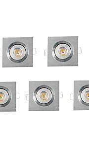 5 stk. MORSEN 3W 1 Høyeffekts-LED 200-300 LM Varm hvit Innfelt retropassform Dimbar Innfelt lampe / Taklys / Panellys AC 220-240 V