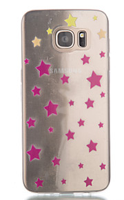Per Samsung Galaxy S7 Edge Transparente / Fantasia/disegno Custodia Custodia posteriore Custodia Geometrica TPU SamsungS7 edge / S7 / S6