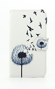 Dandelion Patter PU Leather Full Body Case with Stand for Wiko Lenny2