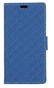 nuevo modelo del laberinto textura del paño de la tarjeta monedero de cuero del soporte del tirón la cubierta del caso para el lumia 850