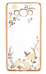 söpö salainen puutarha kukka bling TPU kotelo Samsung Galaxy A5 / A7 / A8 / A9 (eri värejä)